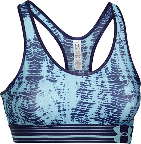 Under Armour Sportswear BH Heatgear Alpha Printed Bra - Sujetador Deportivo para Mujer, Color Azul, Talla XS