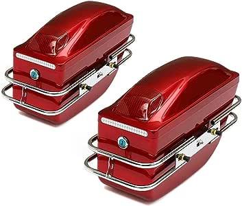 Nero 1Paio Moto Borse Laterali Rigide Valigia scatole Borse per Moto Impermeabile con chiave in ABS