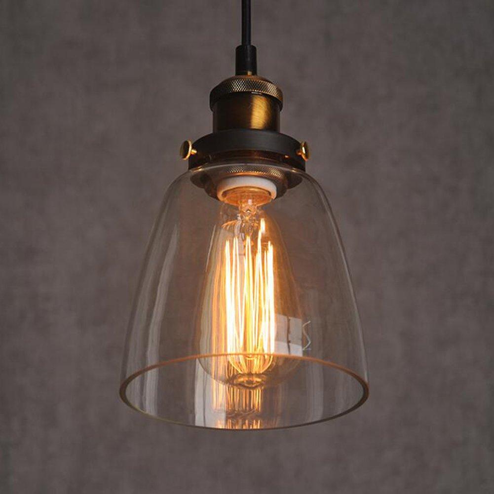 Amber Glass Shade Deckenleuchte Einbau Vintage Retro h?ngende ...