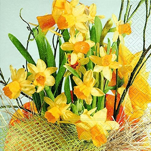 Preisvergleich Produktbild Servietten 20 St FSCMix 33x33cm daffodil blossoms