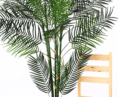 Kunstpalme Areca 210cm hoch, Steckpflanze – Kunstpflanze Kunstbaum künstliche Palmen Kunstpalmen Dekopalmen Palmen Palmbäume