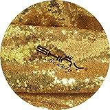 ShinyBeauty Pailletten-Stoff Gold 4 Meters für Pailletten