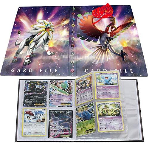 UHIPPO Pokemon Karten Album, Pokemon Karten Halter, Pokemon Ordner für Karten Album Buch Bester Schutz für Pokemon Sammel Karten GX EX Box (Ho-Oh and Solgaleo) (Ex Album Pokemon Karten)
