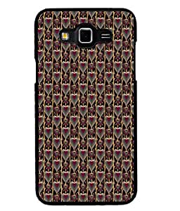 Fuson Premium Pink Heart Pattern Metal Printed with Hard Plastic Back Case Cover for Samsung Galaxy Grand Max G7200
