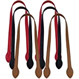 Healifty 6pcs cuero bolso correa de hombro correa de cuero correa de repuesto (rojo negro amarillo marrón)
