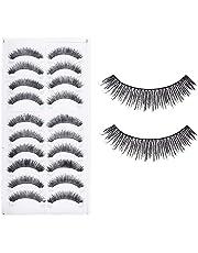 Electomania® 10 Pairs Makeup Beauty False Eyelashes Eye Lashes Extension Long Thick