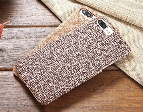 EKINHUI Case Cover IPhone 6S Plus Fall-Abdeckung, Leinenbeschaffenheits-Muster-harte schützende Abdeckung für IPhone 6S Plus ( Color : 6 , Size : IPhone 6S Plus ) 6