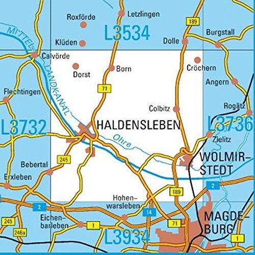 L3734 Haldensleben Topographische Karte 1:50000: DTK50 Sachsen-Anhalt