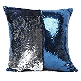 Tonsee Reversible Mermaid Pillow Sequin Cover Glitter Sofa Cushion Case Double Color (B)