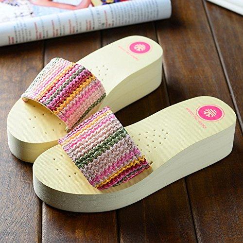 Estate Sandali Pantofole di moda estiva Sandali da spiaggia antisdrucciolo femminile per 18-40 anni Colore / formato facoltativo #2