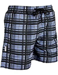 GUGGEN MOUNTAIN Maillot de bain pour homme de materiau high-tech slip shorts quadrille *High Quality Print*