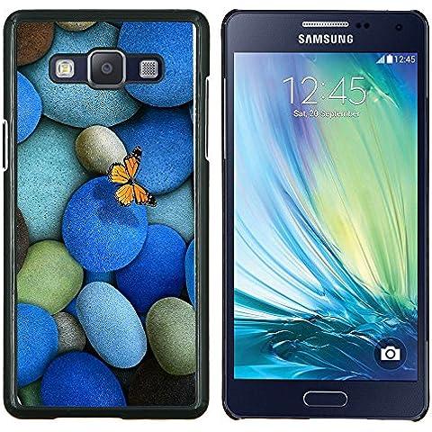 Caucho caso de Shell duro de la cubierta de accesorios de protección BY RAYDREAMMM - Samsung Galaxy A5 A5000 - Guijarros Piedras y la