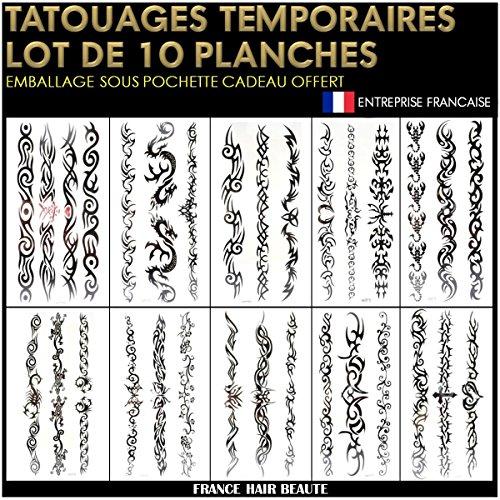 Tatuaggi temporanei neri, motivo maori, non tossici (20 x 12 cm). confezione regalo.