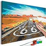 murando - Malen Nach Zahlen Route 66 Landschaft 60x40cm Malset DIY n-A-0304-d-a