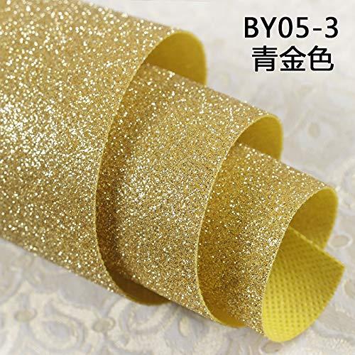 ZCHENG Goldene tapete bekleidungsgeschäft beleuchtung shop dekoration tapete gold ktv wand tuch einfarbig flash tapete, 05-3 grün gold