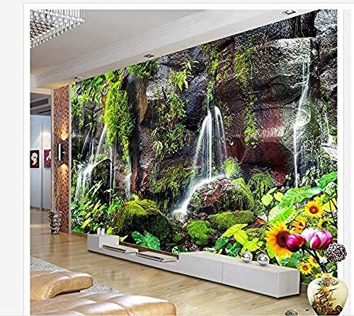 FSLUCKY Fototapeten 3D Berggrün Tropfen Wasser Tv Wanddekor Weißer Hintergrund Malerei Tapete In Hauptdekoration-E