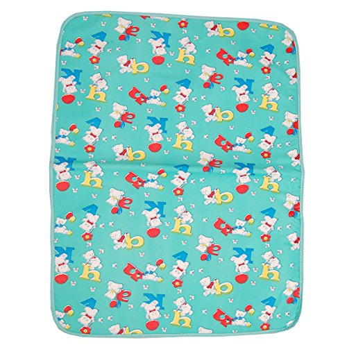 Gurukripa New Born Baby Bed Protector Waterproof Multipurpose Changing Mat Plastic Sheets Baby Changer Sheet Cotton Foam Cushioned Sleeping Mat & Changing Mat Unisex, 0-9 Months, Pack of 1 (Green)  available at amazon for Rs.125