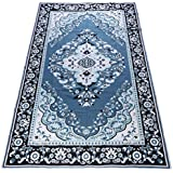 European Styles Persian Art Anti-Skid Non-Slip Carpet Mat | Big Size Floor Mat | Smooth and Silky Rugs Carpet for Living Room