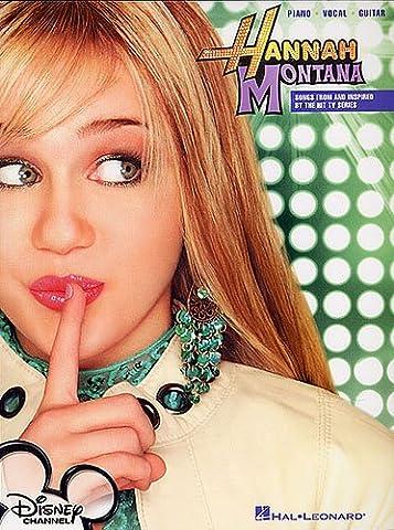Hannah Montana : Vocal Selections songbook for piano/vocal/guitar mit Bleistift - die beliebtesten Songs der Disney TV-Serie arrangiert für Klavier, Gesang und Gitarre - Noten/sheet music
