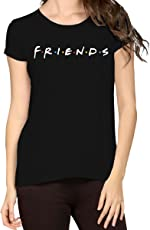 R'Squarre Women's Cotton Half Sleeves Printed Friends Tee