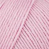Baby Mix Schoeller & Stahl Babywolle weiß Farbe 05 rosa Schurwolle & Microfaser zum Stricken & Häkeln