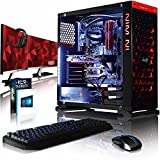 VIBOX Armageddon GL570-200 Paquet Gaming PC - 4,2GHz Intel i5 Quad Core CPU, GTX 1070 GPU, Extremo, Ordenador de sobremesa Gaming con enfriador por agua vale de juego, con monitor, Windows 10 (3,8GHz (4,2GHz Turbo) Intel i5 7600K Quad 4-Core CPU procesador de Kabylake, Nvidia GeForce GTX 1070 8GB GPU de la Tarjeta gráfica de alto rendimiento, 16 GB 3000MHz DDR4 RAM, Unidad de estado sàlido SSD de 240GB, Disco duro 3TB, Corsair GTX H100i líquido refrigerador de la CPU)