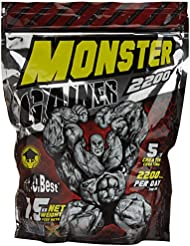 Vit-O-Best Monster Gainer 2200, Suplementos Alimentarios para Deportistas, Sabor a Vainilla - 1500 gr