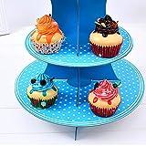 3-Stöckig Karton Etagere Obstteller Gebäckschale Cupcake Ständer Dessert Ständer Törtchen Gebäck Muffin Obst Halter für Party, Geburtstag, Hochzeit, Weihnachten - 5