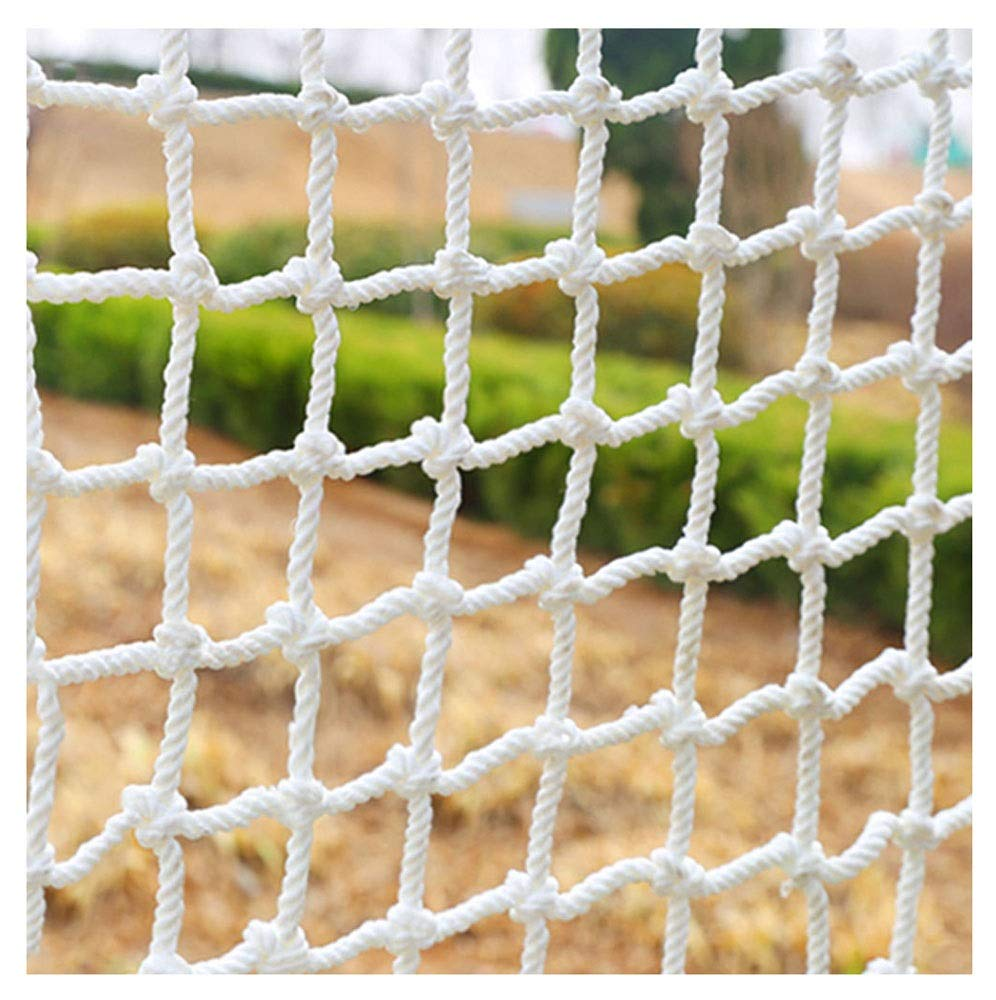 "HWJ Child Safety Net,Decor Net Protection Fence Climbing Woven Rope Truck Cargo Trailer Netting Net Mesh Nets,for Rail Balcony Banister Stair Playground Children Indoor Decoration Outdoor HWJ ★Material of the kids protective netting: expanded polyester. ★Characteristics of decoration net: soft material, light mesh, multi-layer warp and weft, precise wiring, workmanship; high temperature sunscreen, waterproof; clear lines, anti-slip endurance and anti-wear. ★Mesh size*rope diameter:3cm*4mm(1.2""*5/32) , 5cm*6mm(2""*15/64) , 10cm*6mm(4""*15/64).Length*width: please make purchase according to your actual needs.We have any other size (rope diameter, mesh, length * width) rope net, support customization.If you have any questions or needs, please contact us. 1"