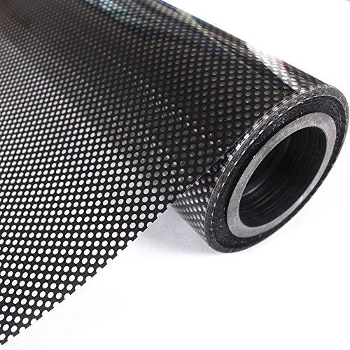 Schatten 35 Fenster (Mesh-fensteraufkleber,Milchglas aufkleber net schatten klarsichtfolie sonne schutz fenster aufkleber transparent schwarz weißes fensteraufkleber-B 90x500cm(35x197inch))