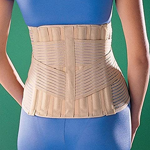 SDA Neoprene SACRO LUMBAR SUPPORT by OPPO – Double Pull Back Brace – Elastic Compression Straps – Lower Back Pain Relief Brace – Muscle Strain & Sprain / Post Pregnancy / Weak Muscles / Post Surgery Lumbar Support – HIVD / PIVD - Facet Joint Syndrome Wrap / Spinal Stenosis Brace (M --- 79.4 -