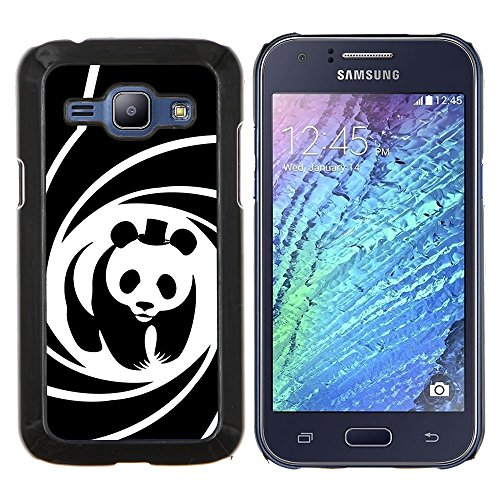Dura PC Custodia Protettiva Cassa Telefono Caso / Hard Case for Samsung Galaxy J1 J100 / Phone Case TECELL Store / Poster Panda Bear Movie Hat spirale Carino Panda Bear Movie Hat Spiral Poster Cute