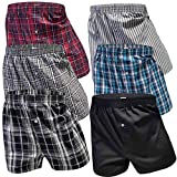 6 Stück Boxershorts Herren Baumwolle Unterhose Männer Unterwäsche Boxershort Baumwolle Retro Unterwäschenset Boxertrunks Retroshorts Shorts (M/5, 6er Pack)