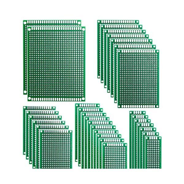 15 Piezas Placas de Fibra de Vidrio de Doble Cara de PCB Taladradas Con