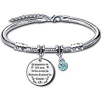 regalo festa della mamma,Bracciale Mamma donna Braccialetto madre Regalo di Compleanno braccialetto di mamma