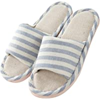 Women and Men's Comfortable Casual Cotton Flax Slipper Indoor Use