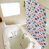 LFF- Dickes Wasserdichtes und Mehltau-Badezimmer-Duschvorhang-Amerikanischer Kleiner Frischer Toiletten-Trennvorhang-zusammenklappbarer Vorhang (Größe : 280X200cm)