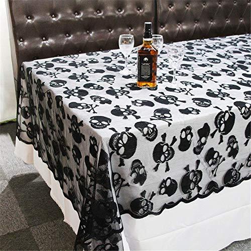 SONGHJ Halloween Dekoration Spitze Spinnennetz Polyester Tischdecke Schwarz Kamin Kaminsims Schal Event Party Supplies Tischdecke A 32x178cm -