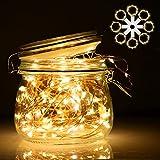 Lichterkette | LED Lichterkette mit Batterie | infinitoo 2m 20er Kupferdraht Lichterkette 8er-Pack | Batteriebetrieben Warmweiß Lichterkette für Zimmer , Tisch , Innenbeleuchtung , Hochzeit , Party , Weihnachten und Haus Deko