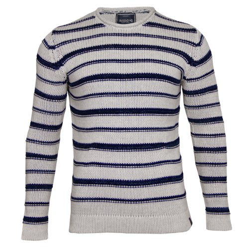 Jack & Jones - Pull - À rayures - Manches longues - Homme Blanc - Whisper White