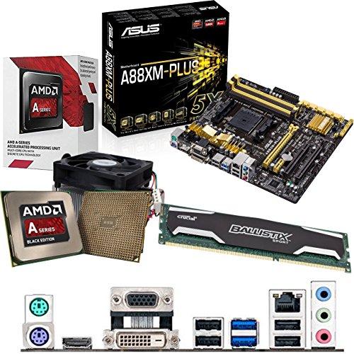 Cheapest Price for AMD Kaveri A8-7600 3.1Ghz CPU, ASUS A88XM-PLUS Motherboard & 4GB DDR3 1600Mhz Crucial Ballistix Sport RAM Pre-Built Bundle Online
