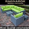 PolyRattan Lounge DEUTSCHE MARKE -- EIGNENE PRODUKTION -- 8 Jahre GARANTIE Garten Möbel incl. Glas und Polster Ragnarök-Möbeldesign (platinum-grau) Gartenmöbel von Ragnarök-Möbeldesign - Gartenmöbel von Du und Dein Garten