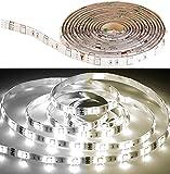 Luminea Zubehör zu Ledstrips: LED-Streifen LAT-212, 2 m, 400 Lumen, warm/kaltweiß, dimmbar, IP44 (LED Lichtbänder)