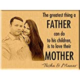 Incredible Gifts India Personalized for Men Wooden Photo Plaque (8x6 inches, Brown)
