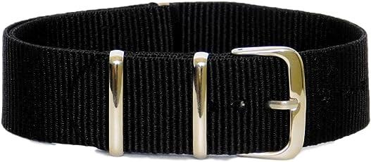 Stech Unisex Analogue 20mm Nylon NATO Strap for Watch(Stech_black)