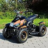Miniquad Elektro Cobra Kinder 800 Watt ATV Pocket Quad Kinderquad Kinderfahrzeug schwarz/orange