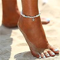 Yean Seashell Cavigliera Starfish Turchese Bracciale alla caviglia Bracciale in argento a forma di piede per donne e…