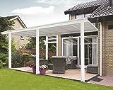 Tettoia per Veranda da Giardino in Bianco (Piccolo 3.12m x 3m)