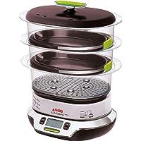 Seb VitaCuisine Compact Cuiseur vapeur, 3 paniers vapeur, Sans BPA, 2 plateaux de cuisson, Verrines en verre, Support à…
