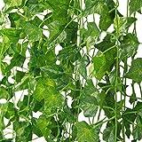 MARTHA&IVAN 14 PiššCes Lierre Artificiel-Plante Artificielle,Feuilles Artificielles,Faux Lierre pour Decoration Jardin